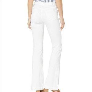 7 Fam Dojo Jeans on Runway White.